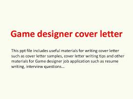 Resume Builder Login Game Designer Cover Letter Thumbnail 4 ...