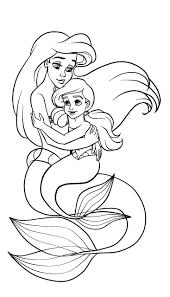 41+ Tranh tô màu nàng tiên cá xinh đẹp, dễ thương dành tặng bé gái