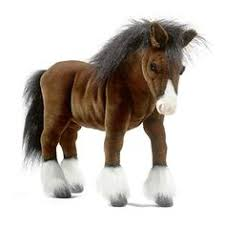 hansa clydesdale large 20 inch stuffed horse horse gifts sports toys clydesdale horses