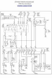 car wiring diagram page 2 exterior lamp circuit of 1998 chevrolet blazer
