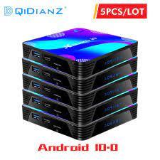 5 pcs X88 Pro 10 TV BOX Android 10 Wifi Media player 4K H.265/H.264 3D  1080P RK3318 Quad Core 64bit X88Pro 10 Smart Set Top Box|Set-top Boxes