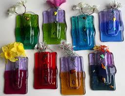 luminosity glass ny fused glass pocket wall vases