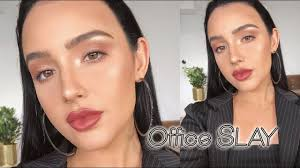 everyday work office makeup tutorial no false lashes