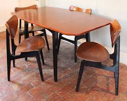 vine retro gplan tola drop leaf dining table 4 erfly chairs delivery