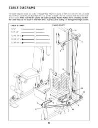 Cable Diagrams Weider Pro Power Stack 831 159831 User