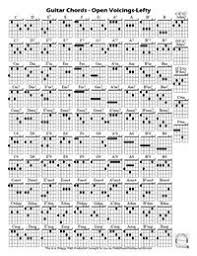 Guitar Chord Chart Ultimate The Ultimate Chord Sheet For Left Handed Guitar Players