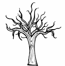 Small Picture Cartoon Bare Tree Coloring Page Cartoon Downlload Coloring Pages