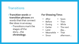 Transition Words   Phrases