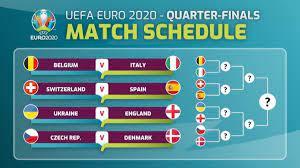 الجمعة ..انطلاق مواجهات ربع نهائي يورو 2020