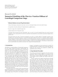 Centrifugal Compressor Impeller Design Pdf Numerical Modeling Of The Flow In A Vaneless Diffuser Of