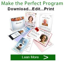 How To Make A Funeral Program Funeral Program Template Software Memorial Apps
