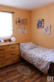 bedroom colors orange. Teen Bedroom Painted In Bright Orange Before The Makeover. Colors