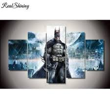 You can also mix the best of both worlds for a complete dedication to batman. 5d Diamond Painting Batman 5 Panel Kit Batman Painting Movie Wall Art Batman Canvas
