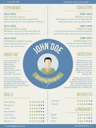 Modern Resume Curriculum Vitae Cv Design With Photo And Name