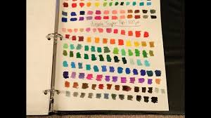 Crayola Supertips 50 Color Chart Crayola Super Tips Marker Swatches 100 Pack