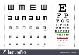 Eye Test C Chart Optometry Vector Snellen Eye Test Charts For Children And Adults