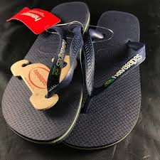 New W Tags Havaianas Brazil Flag Multicolor Soles Nwt
