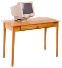 winsome metro studio solid wood computer desk in honey pine transitional desks and