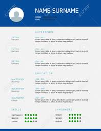Professional Simple Styled Cv Resume Template Design With Blue