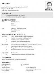 Gallery Of Resume For Teachers Job Application Best Letter Sample