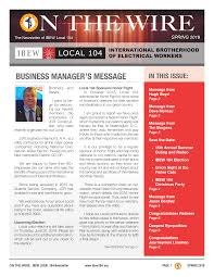 News Letters Newsletters Ibew Local Union 104