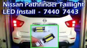 Nissan Pathfinder Led Taillight Intall Auxbeam 7440 7443 Bulb