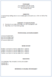 How To Write A Resume Format Sample Resume Format For High School
