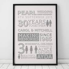 wedding anniversary family art print