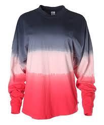 Venley Size Chart Venley Black Red Dip Dye Sweatshirt Women Zulily