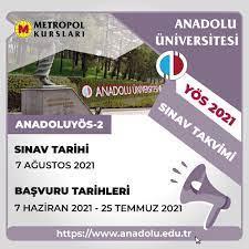 💫Anadolu Üniversitesi YÖS 2021-2... - Metropol Yayınları | Faceb