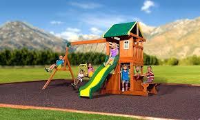 backyard discovery tanglewood cedar wooden swing set backyard discovery