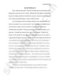 into the wild essay doc english wilson at james  into the wild essay 1 doc english 103 wilson at james madison university studyblue