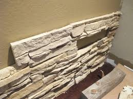 how to make a wall with faux stone