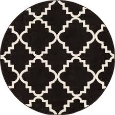 round black and white rug designs
