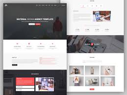 Matx - Material Design Agency Template By Coderpixel - Dribbble