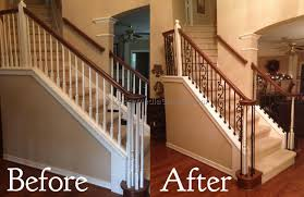 replace stair railing. Perfect Replace Replacing Banister Spindles Sresellpro With Regard To Stair  Railing Intended Replace O