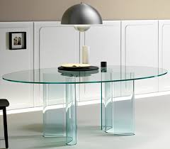contemporary glass dining tables glassdomain uk glass console table between chairs