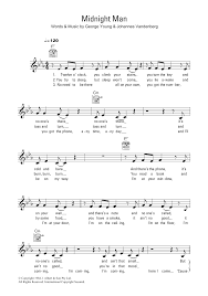 Midnight Man Sheet Music | Flash And The Pan