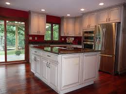 Red Kitchen Wall Paint Color With Black Granite