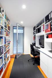 bookcases for home office. Home Office Bookshelves Contemporary With Square Glass Brick Seamless Cabintry Large Single Door Bookcases For