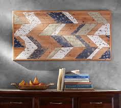 on rustic white wood wall art with chevron wood wall art pottery barn