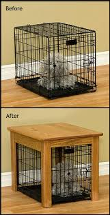 wooden dog crate furniture. Amish Made Hardwood Dog Crate Cover End Table Wooden Furniture