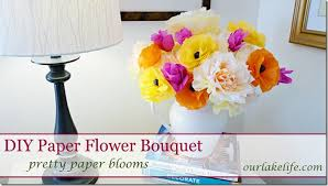 How To Make A Simple Paper Flower Bouquet Our Lake Life Diy Handmade Paper Flower Bouquet Our Lake Life