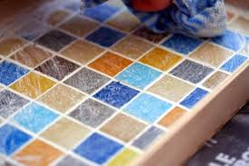 7. allow your mosaic to cure for 2 to 3 days before using. during this  time, mist the surface occasionally with water to prevent the grout from  cracking.