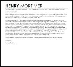 Johnson And Johnson Cover Letter Safety Supervisor Cover Letter Sample Cover Letter Templates
