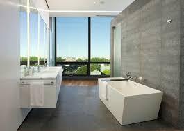 modern bathroom backsplash. Contemporary Small Bathroom Design White And Grey Square Free Standing Bathtub Backsplash Double Vanity Modern L