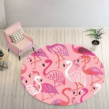 girls holiday round flamingo area rug flamingo rugs with free for home decor