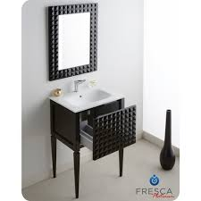 diamond  inch glossy black modern bathroom vanity integrated