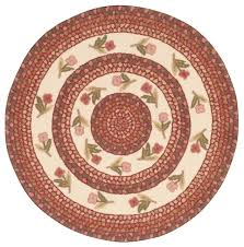 everywhere fl braid round rug ivory rose 3 6 x3 6 contemporary area rugs by nourison