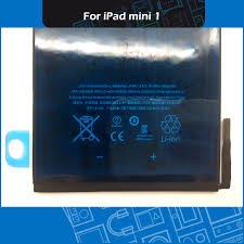 iPad Mini 1 <b>4440mAh 3.72V</b> Internal <b>Li</b>-<b>ion</b> Battery A1432/A1454 ...